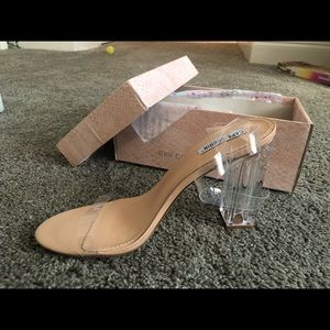 Classic clear strapped heels